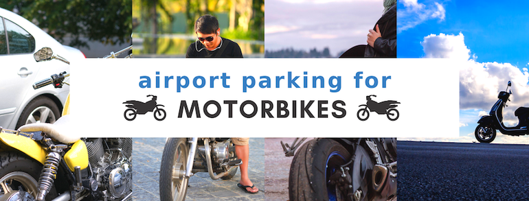 Header for Airport Parking for motorbikes - prices and tips for UK Airports