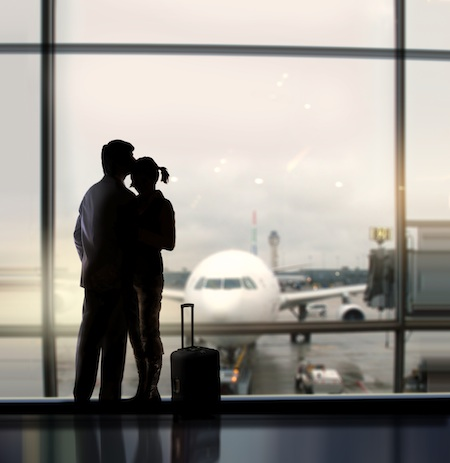 Couple at airport