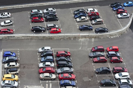 Car parking space from birdseye