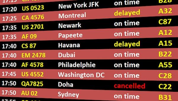 Airport International Departures Live Departures