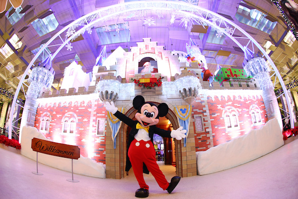 Mickey and friends bring Winter Wonderland to Changhi Airport