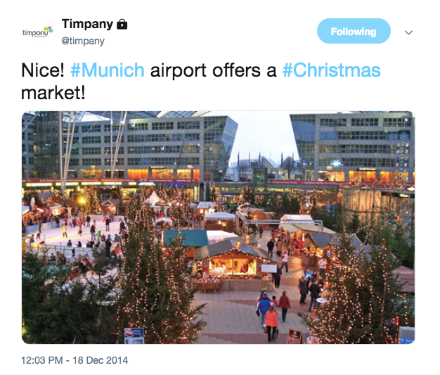 The Christmas Market at Munich Airport was the perfect place to pick up a few extra presents!