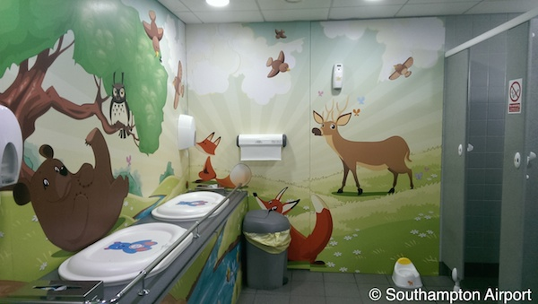 Southampton Airport mother and baby facilities - copyright Southampton Airport