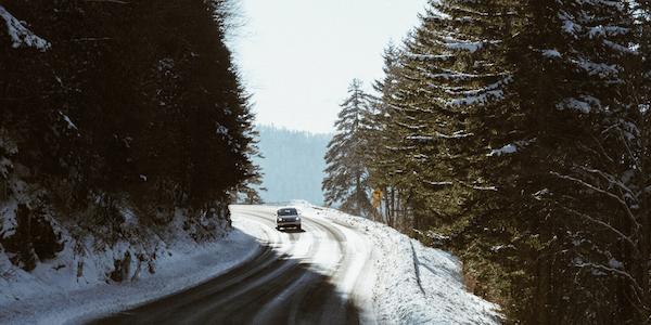 driving at ski