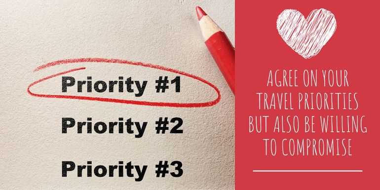 Travel tip: Work out your priorities