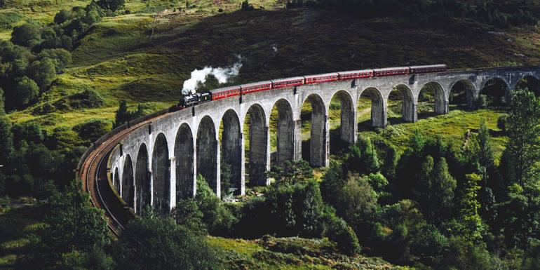 literary holidays - harry potter train