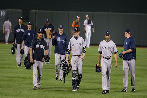 The Yankees at Baltimore