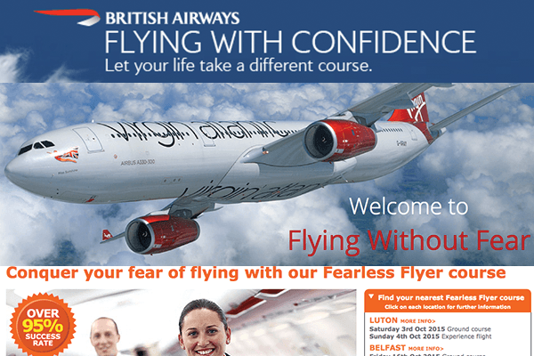 Selection of flying courses helping passengers beat claustrophobia when flying