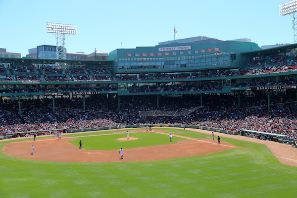 The Red Sox in action at Fenway Park