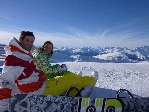 Howard and Zuzana in Les Arcs