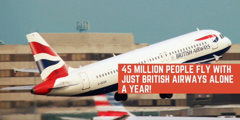 45 million people a year fly with British Airways