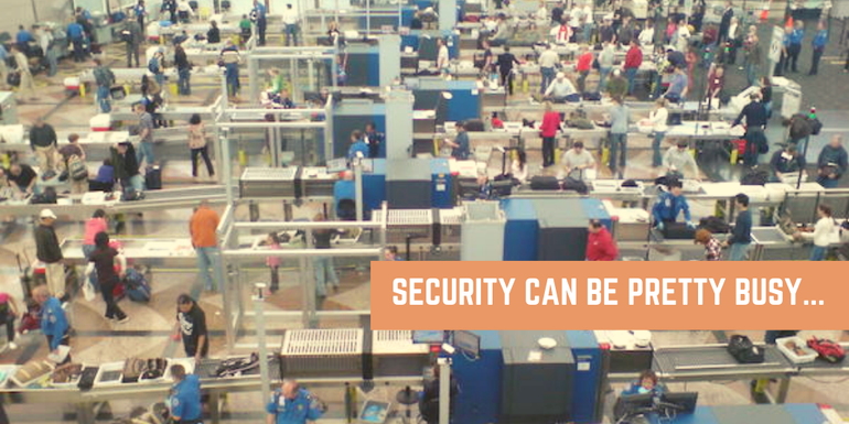 Be mindful that security can be quite a busy and overwhelming area