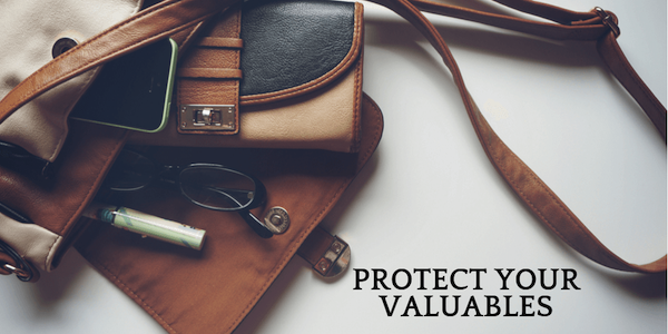 Look after your valuables