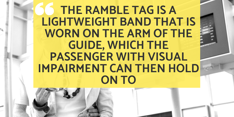 Ramble Tag is a lightweight band that is worn on the arm of the Guide.