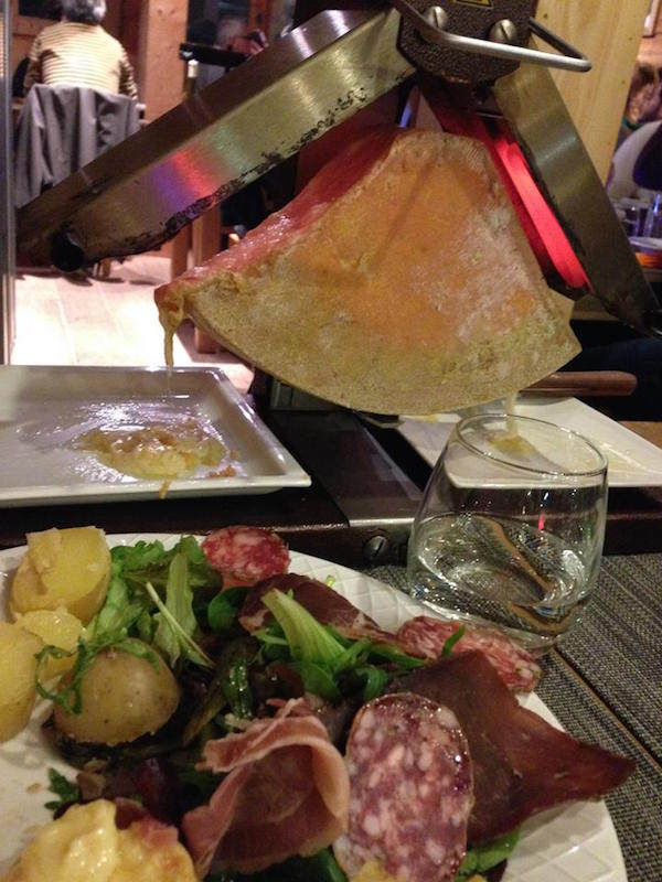 Traditional Raclette in Les Arcs