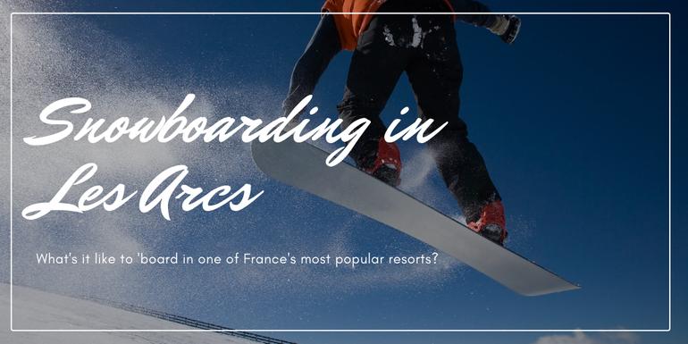snowboarding in Les Arcs