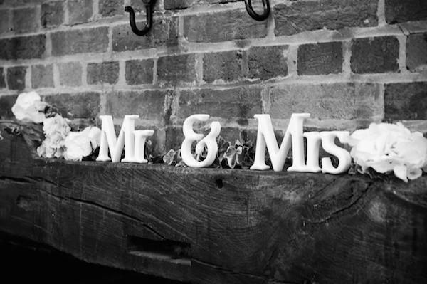 Mr and Mrs Destination Wedding decorations