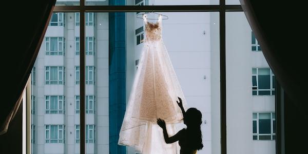 destination weddings - wedding dress