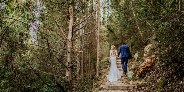 destination weddings - wedding in woods