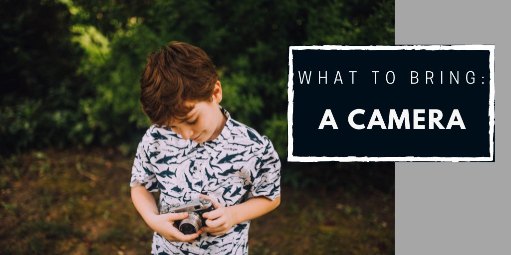 keeping children entertained on a long trip - a child with camera