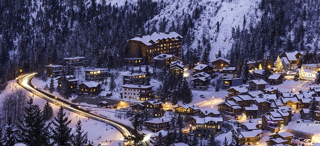 Picturesque town in Courchevel