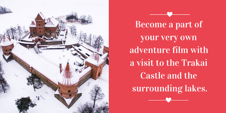 Start your own Valentine's adventure at Trakai Castle