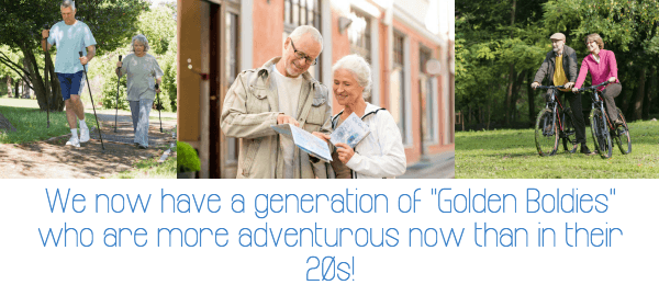 Adventure holidays for over 55s