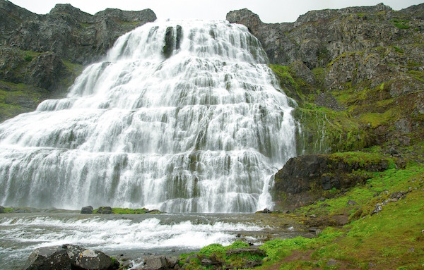 Dynjandi waterfalls are one of the main attractions in Iceland