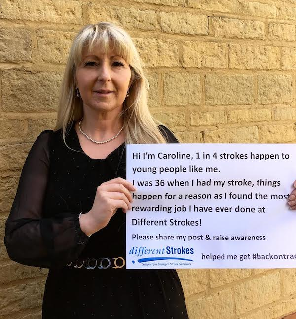 Different Strokes helped Caroline after her stroke