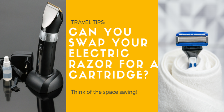 Can you swap your electric razor for a cartridge one instead?