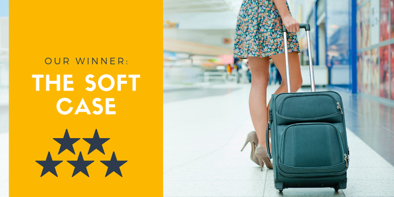 The soft shell hand luggage case is our winner