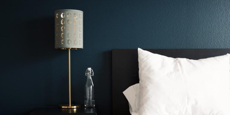 lamp at bedside