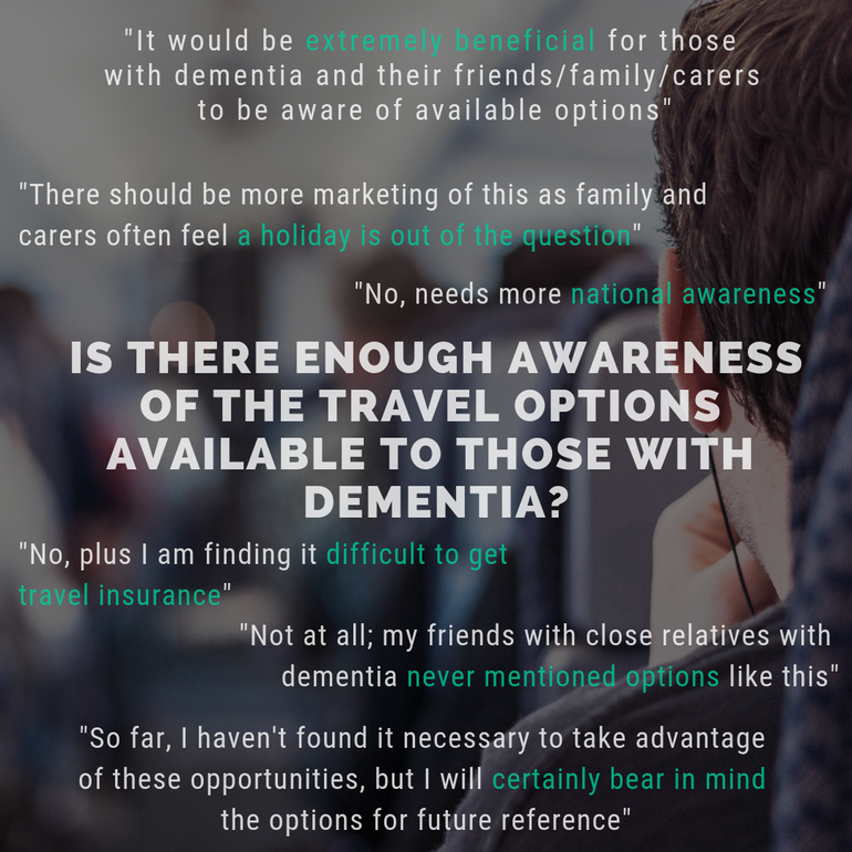Is there enough awareness for travellers with dementia?