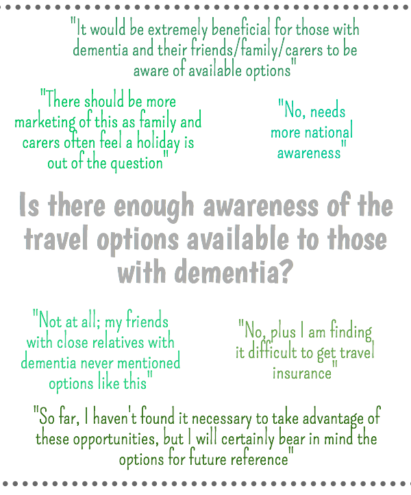 Is there enough awareness about dementia friendly travel options?