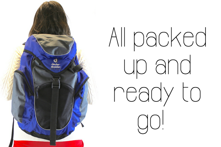 once all your travel essentials are packed up, off you go!
