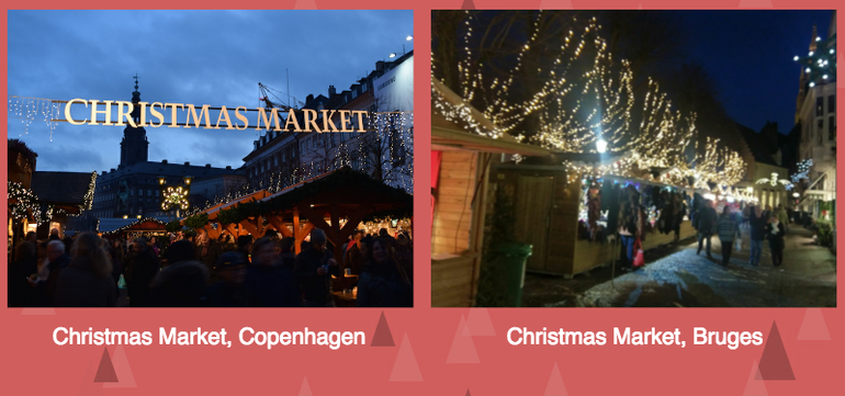 Christmas markets in Copenhagen and Bruges