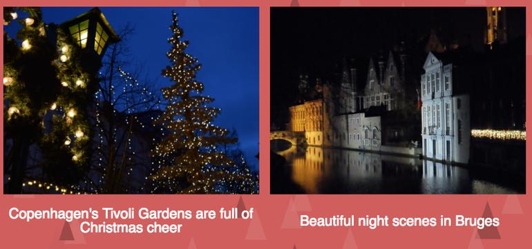 Christmas activities in Copenhagen and Bruges
