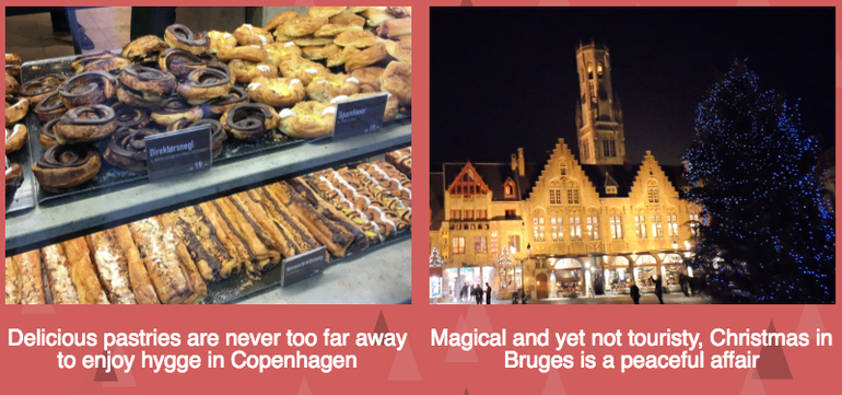 Hygge and Christmas lights in Bruges