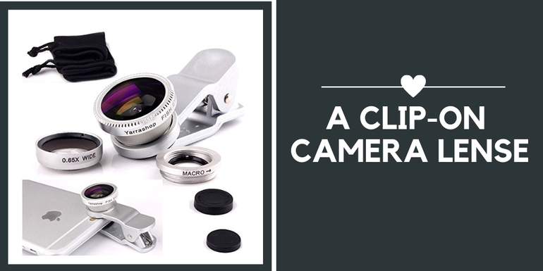 Is your partner a budding photographer? Opt for a phone camera lens