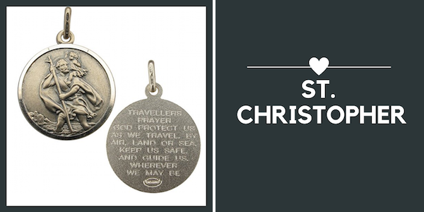 travel gifts for Valentine's Day - st christopher