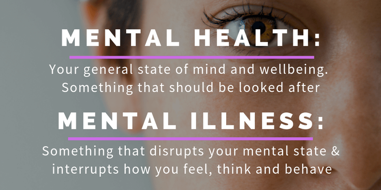 Explaining the difference between Mental Health and Mental Illness