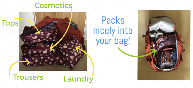 we love packing cubes! They are a great packing hack