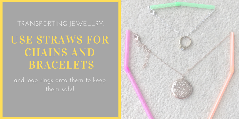 Packing Hacks we love - straws for jewellery