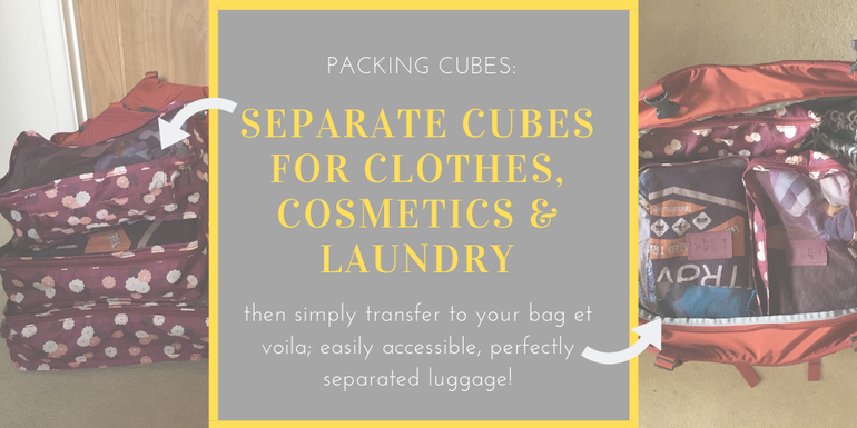 Packing hacks we love - packing cubes