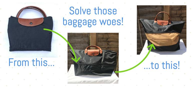 expandable travel bag