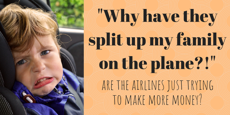 Why are airlines splitting up families on planes? Airport Parking Shop investigates
