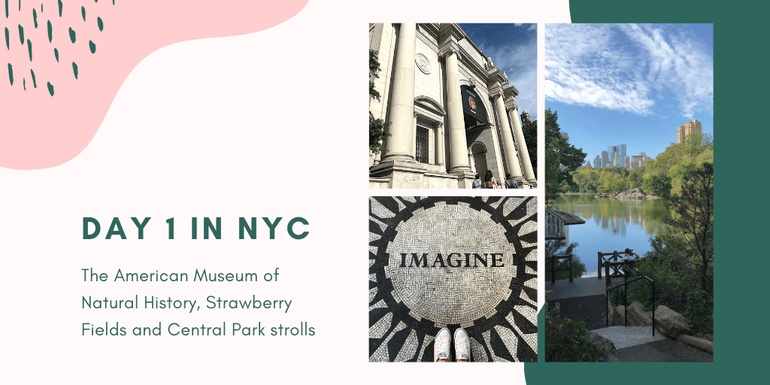 A visit Central Park and Strawberry Fields are a must during your NYC 3 day itinerary