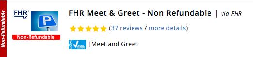 Gatwick FHR Meet & Greet - Non Refundable