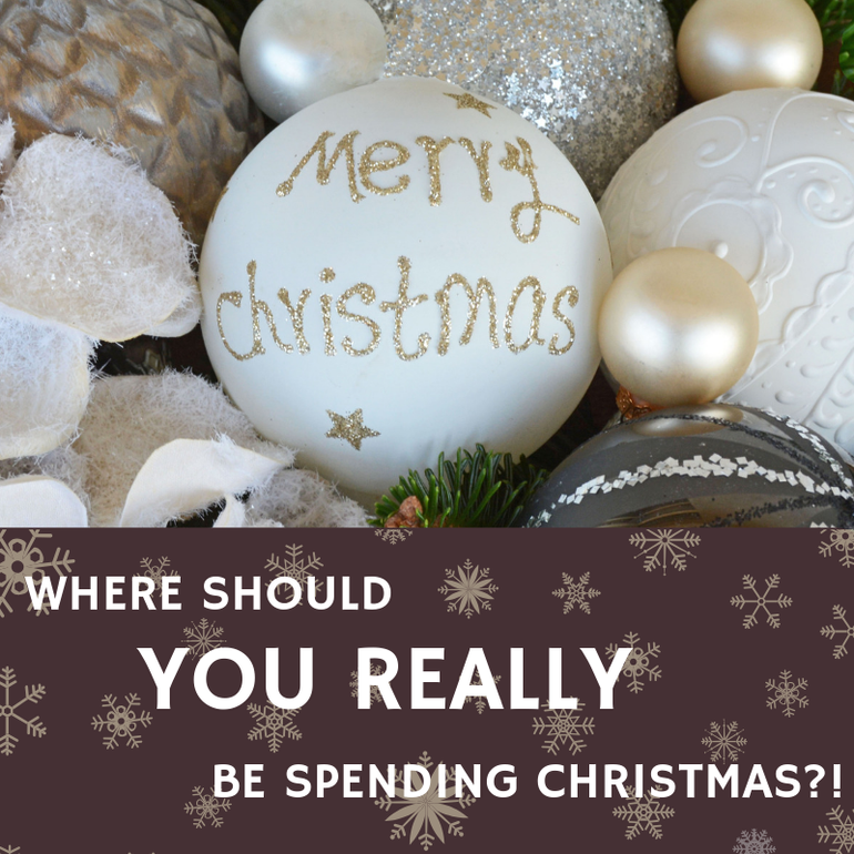 Where should you be spending Christmas this year?