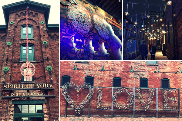 The beauty of the Distillery District make sit one of 7 must visit spots in Toronto